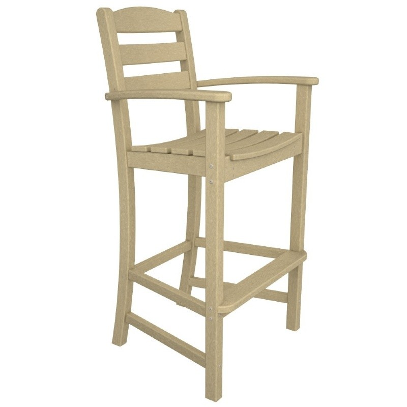 Polywood La Casa Plastic Bar High Arm Chair