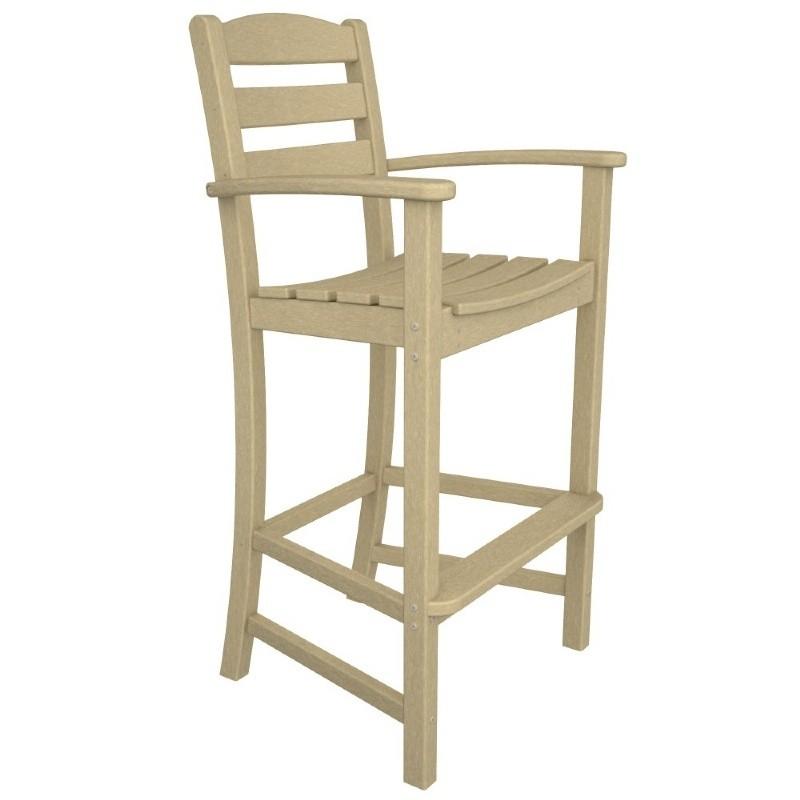 Polywood 174 la casa outdoor bar high arm chair