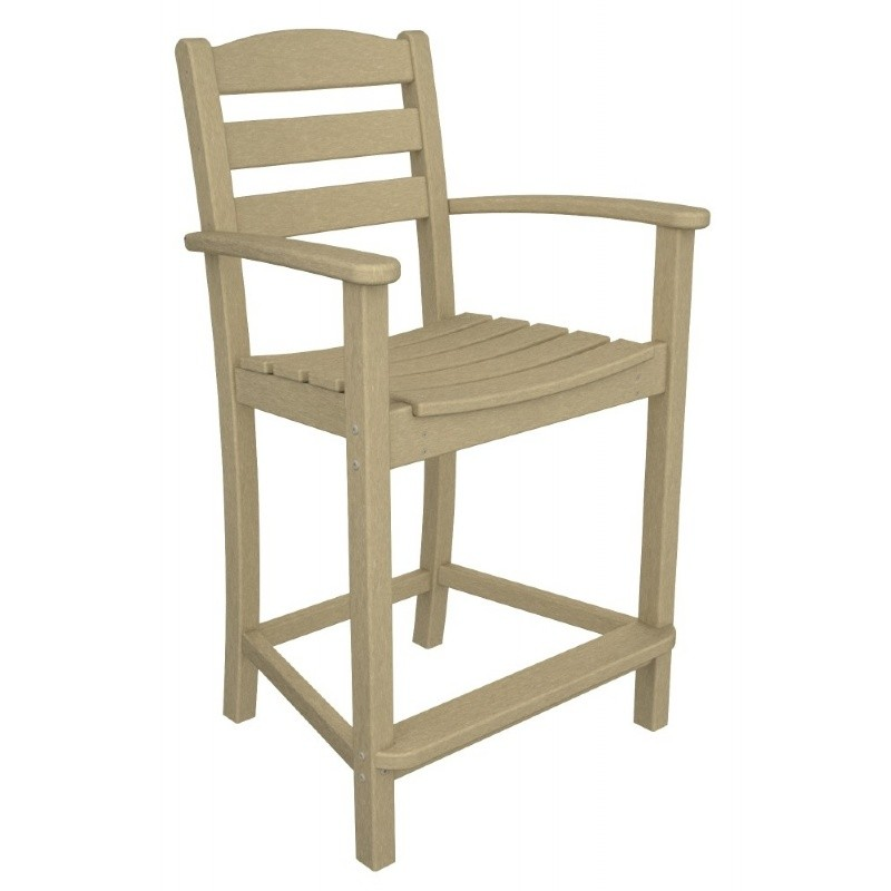 Polywood La Casa Plastic Counter Arm Chair