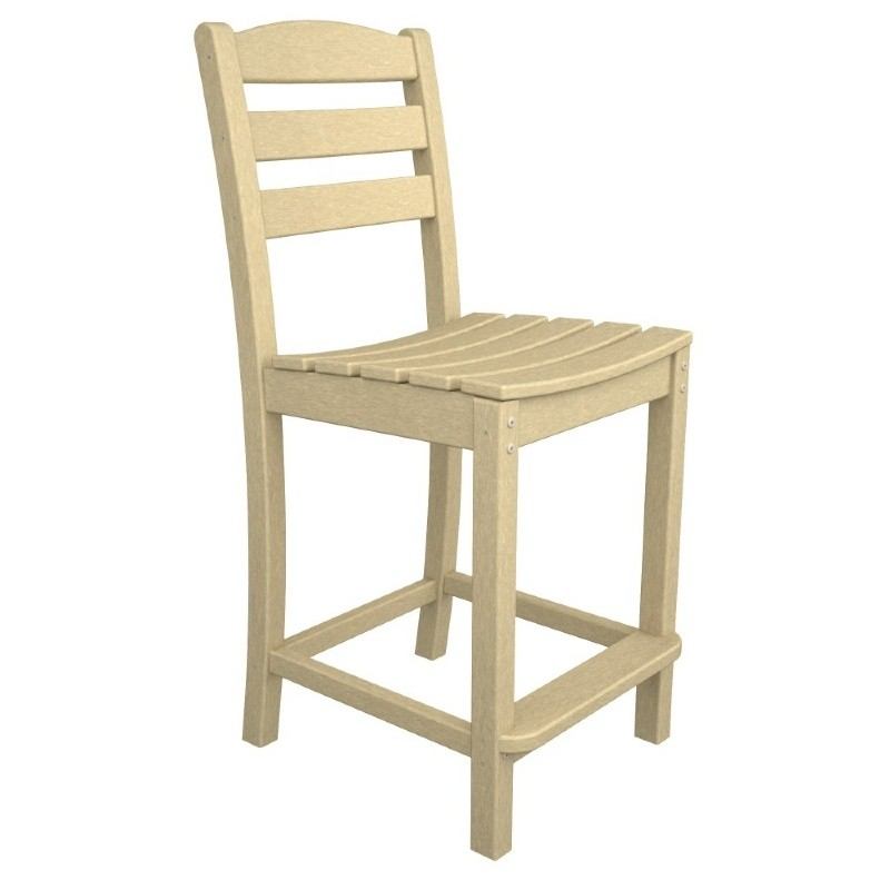 Polywood La Casa Plastic Counter Chair
