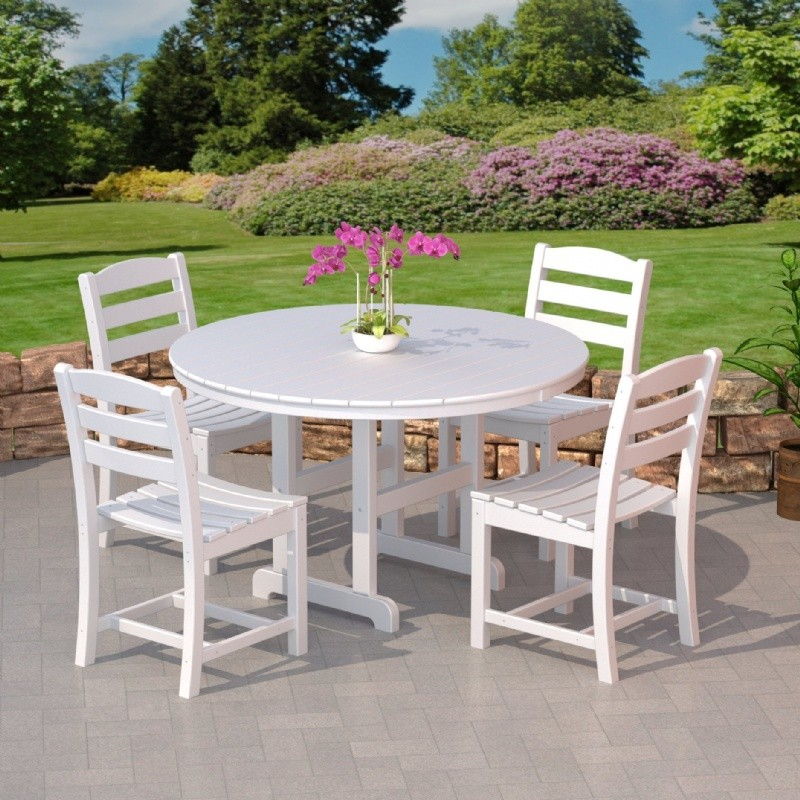 POLYWOOD® La Casa Outdoor Dining Set 5 Piece with Side Chairs