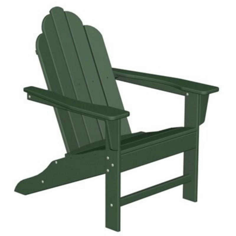 Plastic Wood Long Island Adirondack Chair Classic : White Patio Furniture