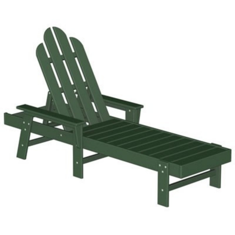 Commercial Polywood Recycled Plastic Long Island Chaise Classic