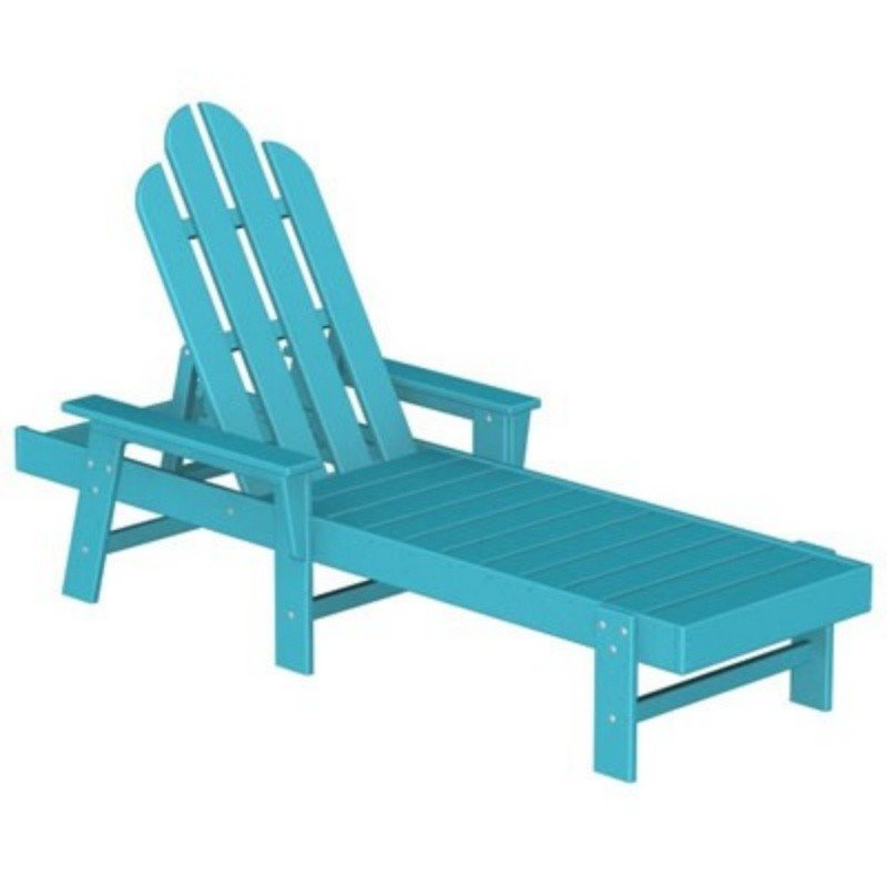 Polywood Recycled Plastic Long Island Chaise Fiesta