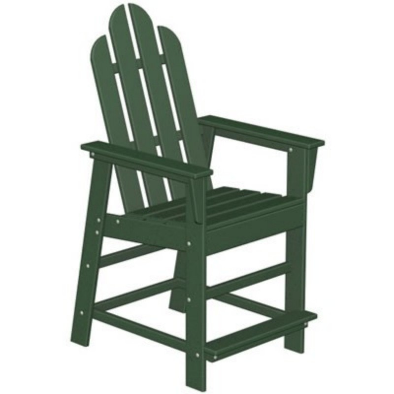 Plastic Wood Long Island High Chair Classic : Outdoor Chairs