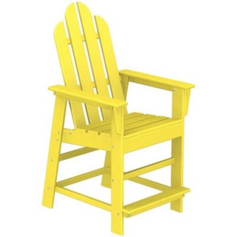 Plastic Wood Long Island High Chair Fiesta : Patio Chairs