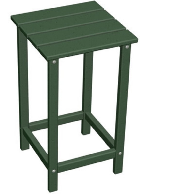 "Plastic Wood Long Island High Side Table 15"" Square Classic : Plastic Outdoor Tables"