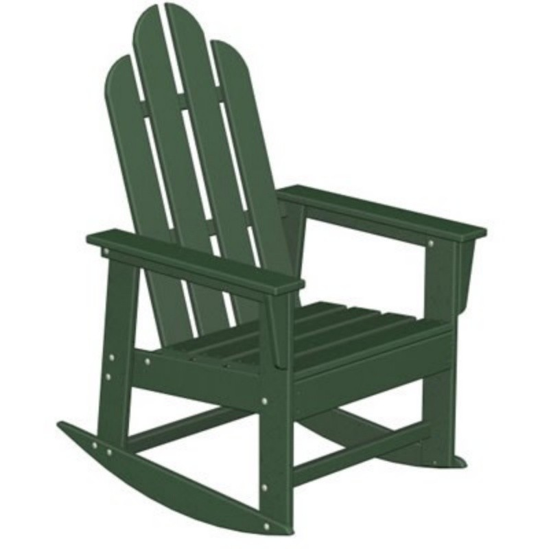 Heavy Duty Folding Outdoor Rocking Chair: Polywood Long Island Outdoor Rocker Classic