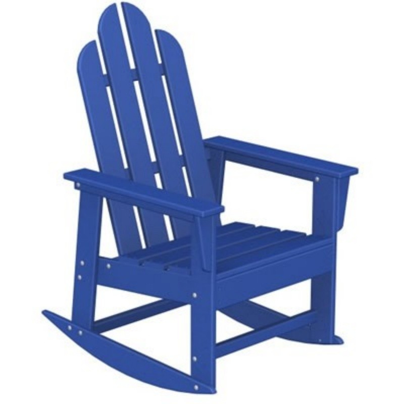Heavy Duty Folding Outdoor Rocking Chair: Polywood Long Island Outdoor Rocker Fiesta