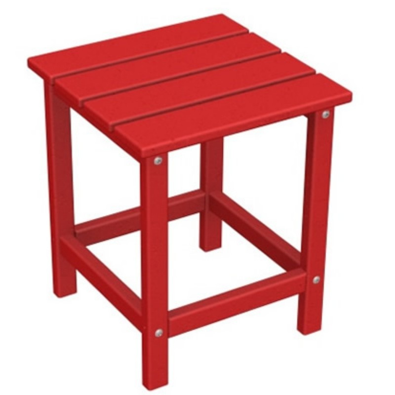 "Outdoor Furniture: Coffee Tables: Plastic Wood Long Island Side Table 15"" Square Fiesta"