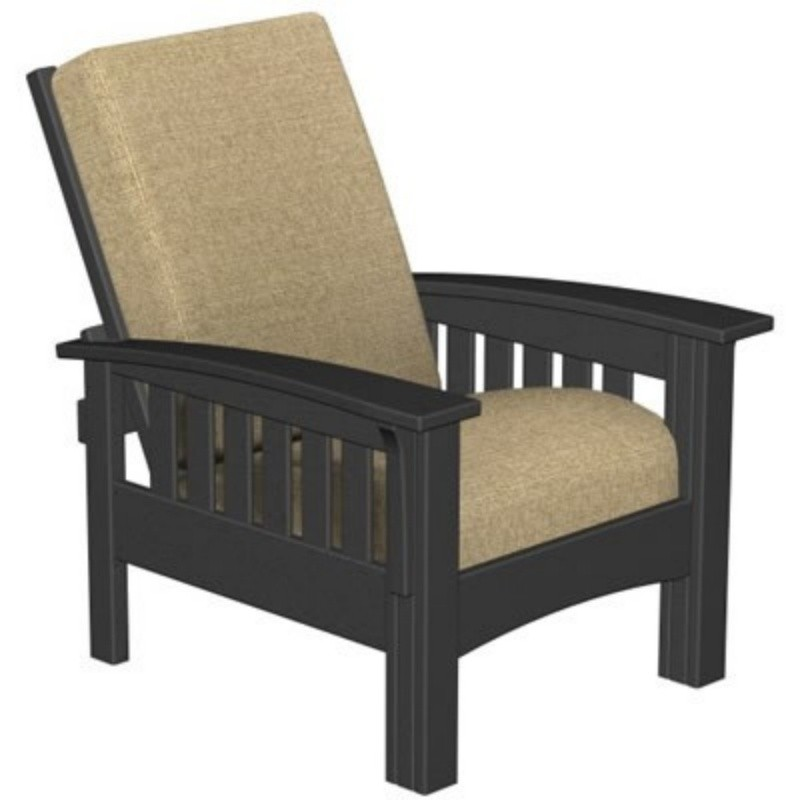Plastic Wood Mission Outdoor Club Chair : White Patio Furniture