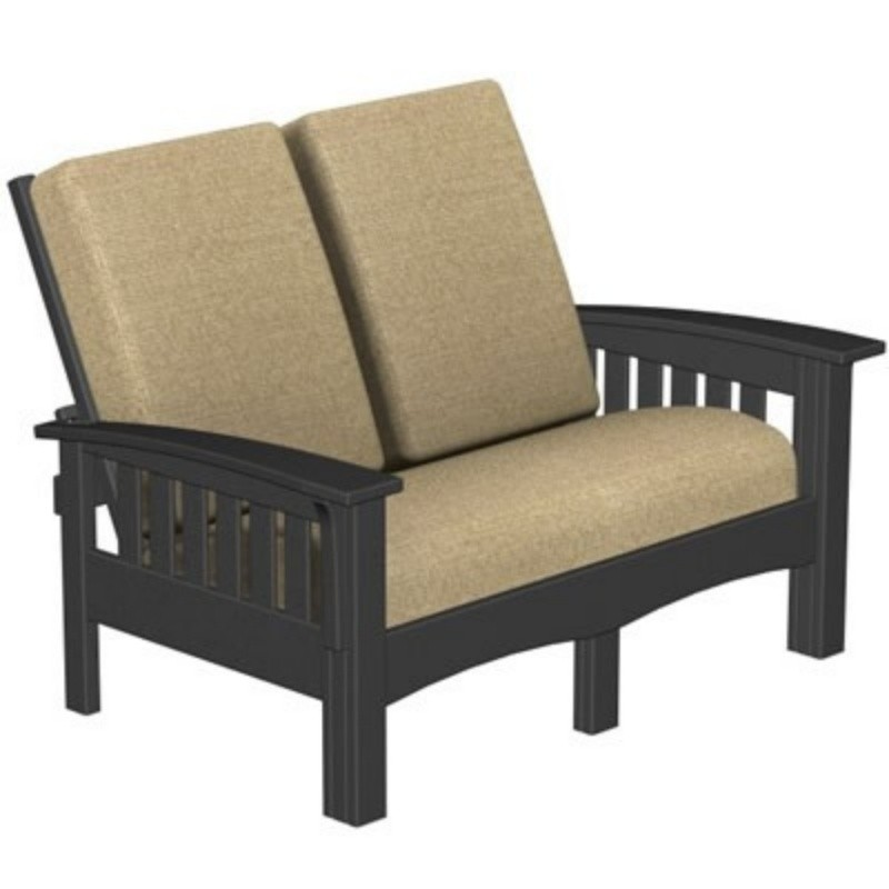 Plastic Wood Mission Outdoor Club Love Seat : Patio Chairs