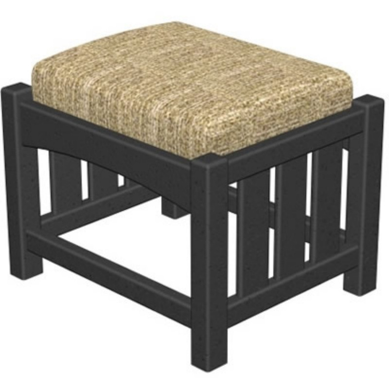 Plastic Wood Mission Outdoor Club Ottoman : White Patio Furniture