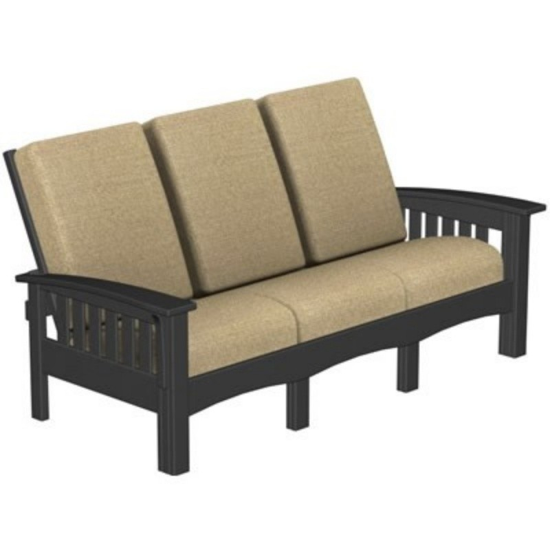 Plastic Wood Mission Outdoor Club Sofa : White Patio Furniture