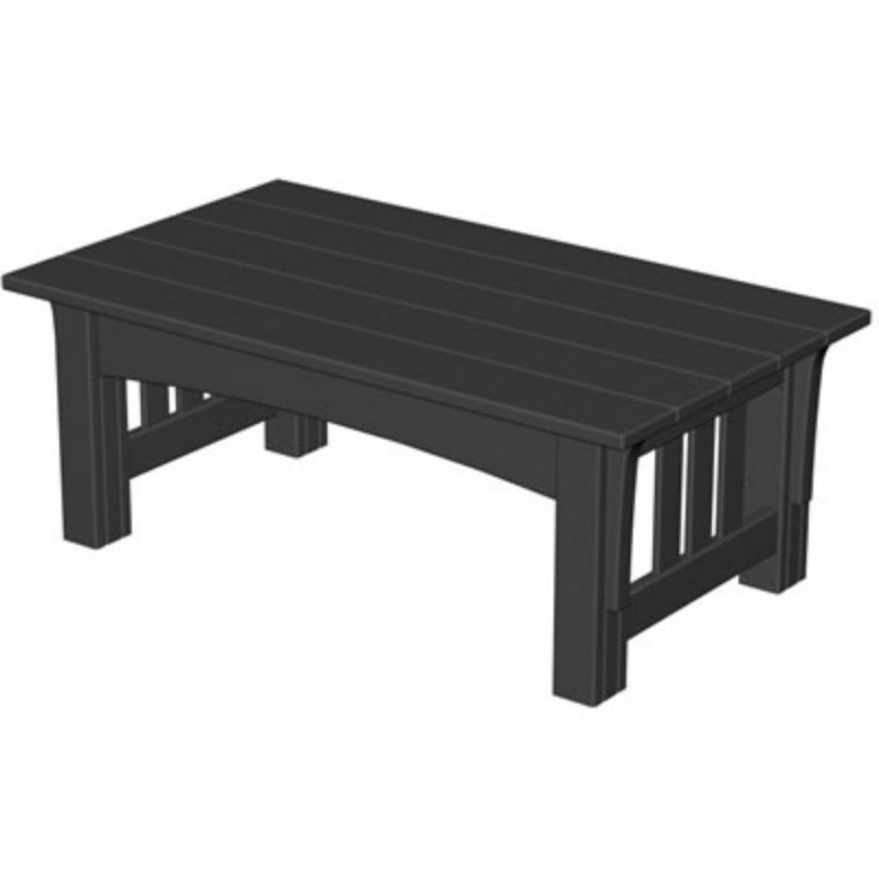 Plastic Wood Mission Outdoor Rectangle Coffee Table : Plastic Outdoor Tables