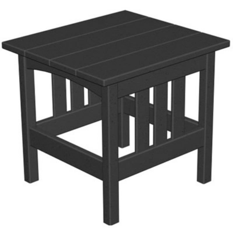 Outdoor Furniture: Plastic Outdoor Tables: Plastic Wood Mission Outdoor Square Side Table