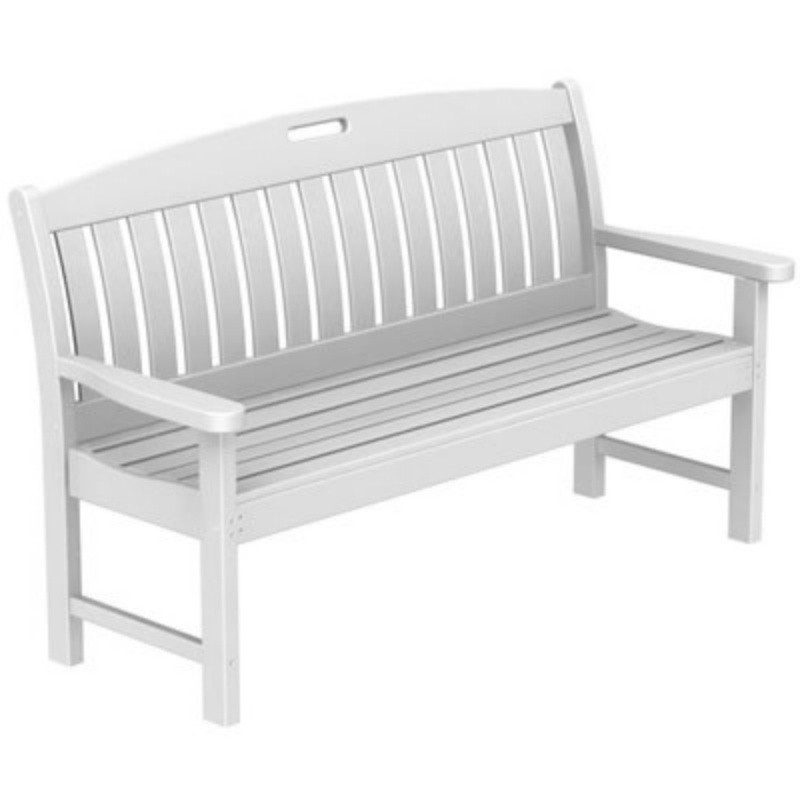 Plastic Wood Nautical Garden Bench w/arms 60 inches