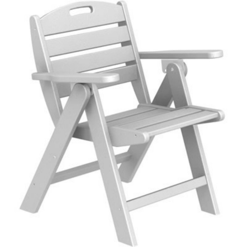Plastic Wood Nautical Outdoor Folding Chair : White Patio Furniture
