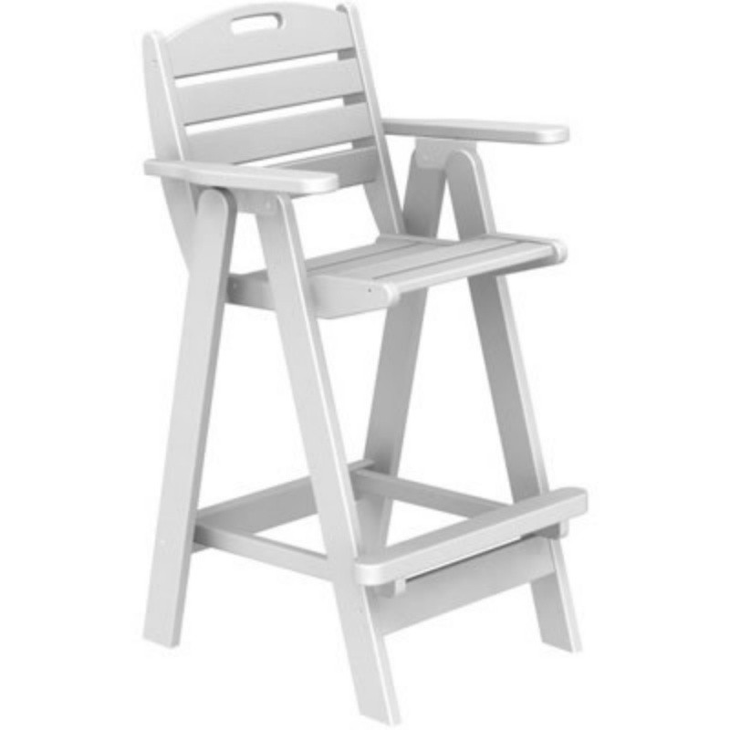 Plastic Wood Nautical Outdoor Bar Chair : White Patio Furniture