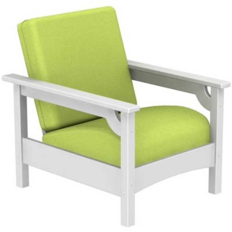 Outdoor Furniture: Club Chairs: Plastic Wood Outdoor Club Chair