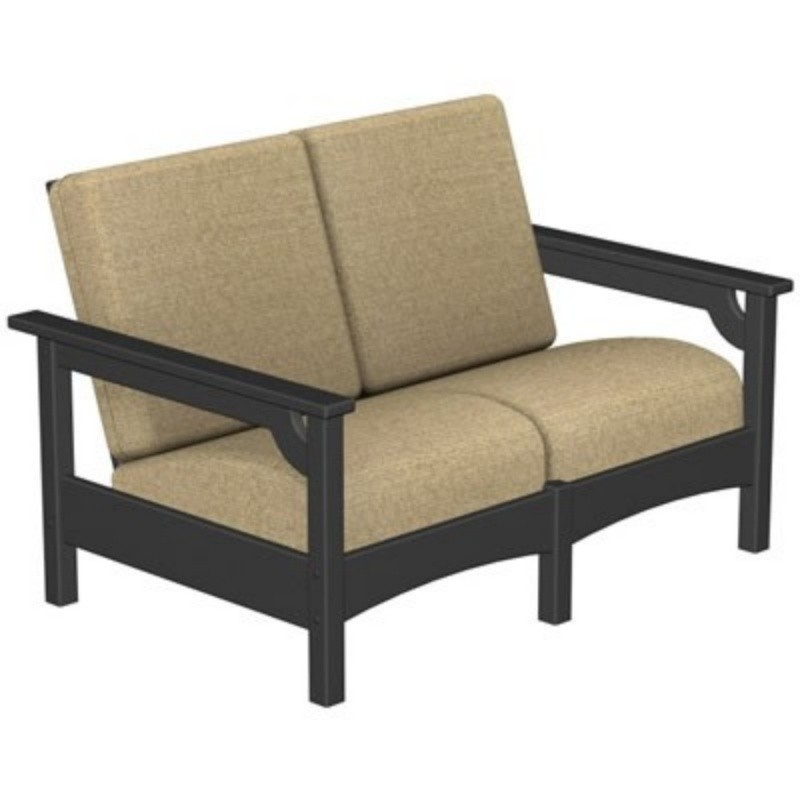 Plastic Wood Outdoor Club Love Seat : Patio Chairs