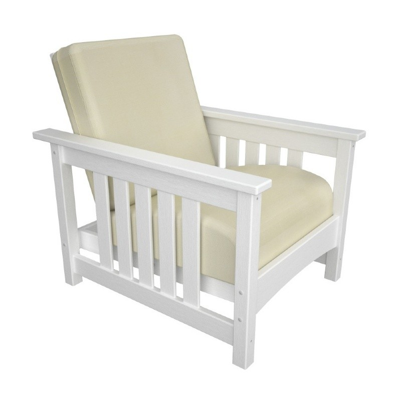 Outdoor Furniture: Club Chairs: Plastic Wood Outdoor Club Mission Deep Chair