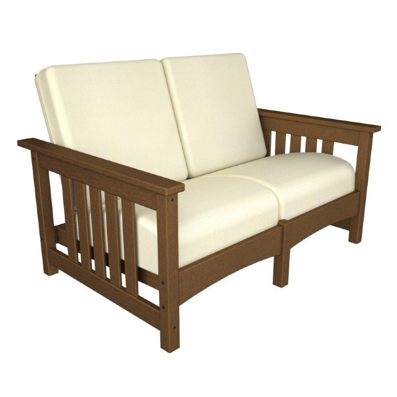 Plastic Wood Outdoor Club Mission Loveseat : Sofas
