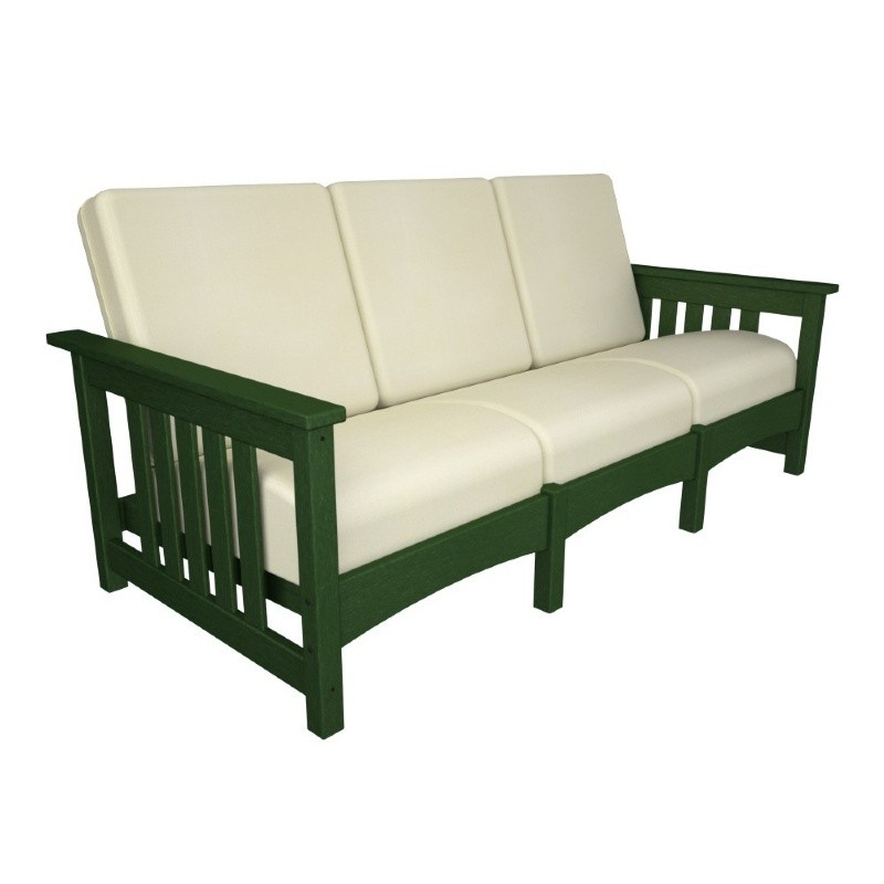 Plastic Wood Outdoor Club Mission Sofa Three Seater : Sofas
