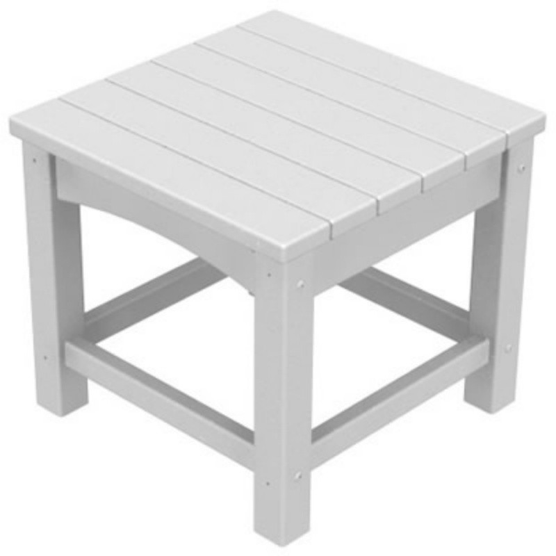 Plastic Wood Outdoor Club Square Side Table : Plastic Outdoor Tables