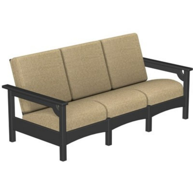 Plastic Wood Outdoor Club Three Seater Sofa : Sofas