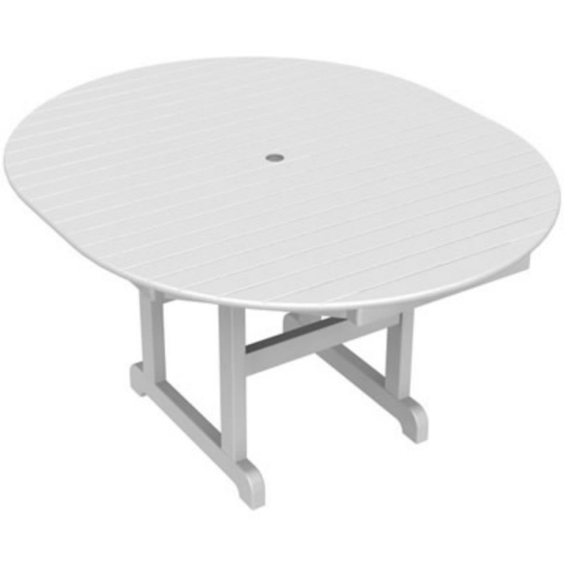 recycled plastic oval outdoor dining table 56 inch pw