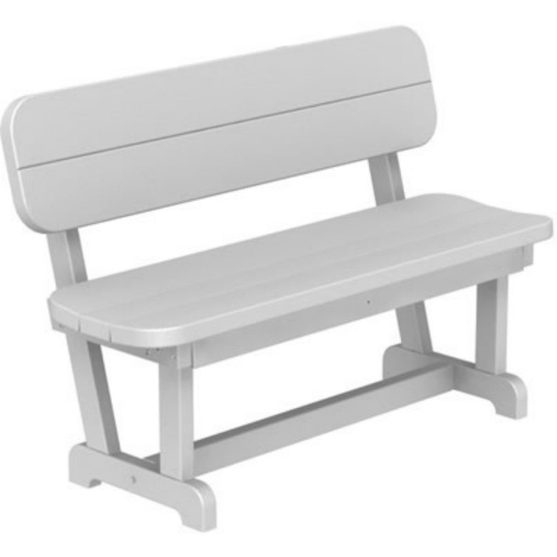 Child's Plastic Chair: Polywood Park Bench with Back