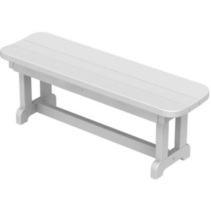 Plastic Wood Park Picnic Bench : White Patio Furniture