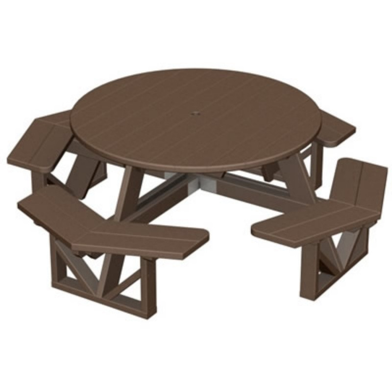 Plastic Wood Park Picnic Table and Bench Set Octagon alternative photo #2