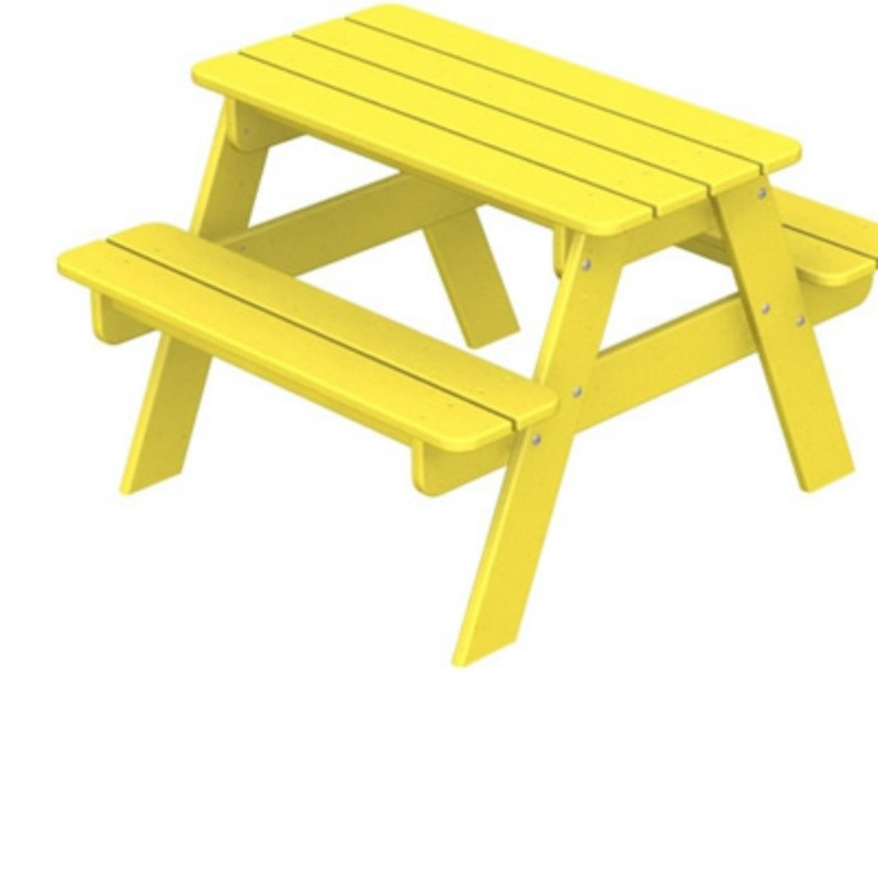 Polywood Plastic Picnic Table and Bench for Kids Fiesta