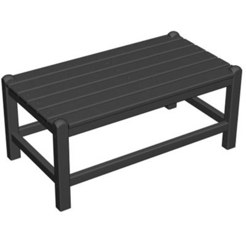 Outdoor Furniture: Coffee Tables: Plastic Captain Rectangle Coffee Table 32 inch