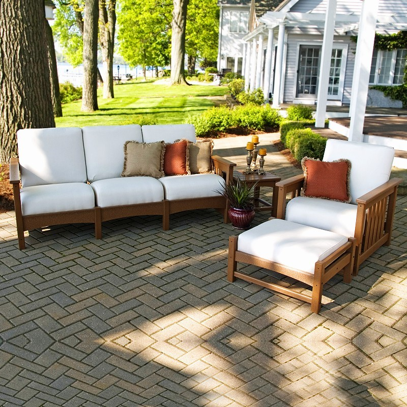 Teak Patio Dining  on Club Deep Seating Patio Set 4 Piece Teak Pw4acmc   Patiosetsmart Com