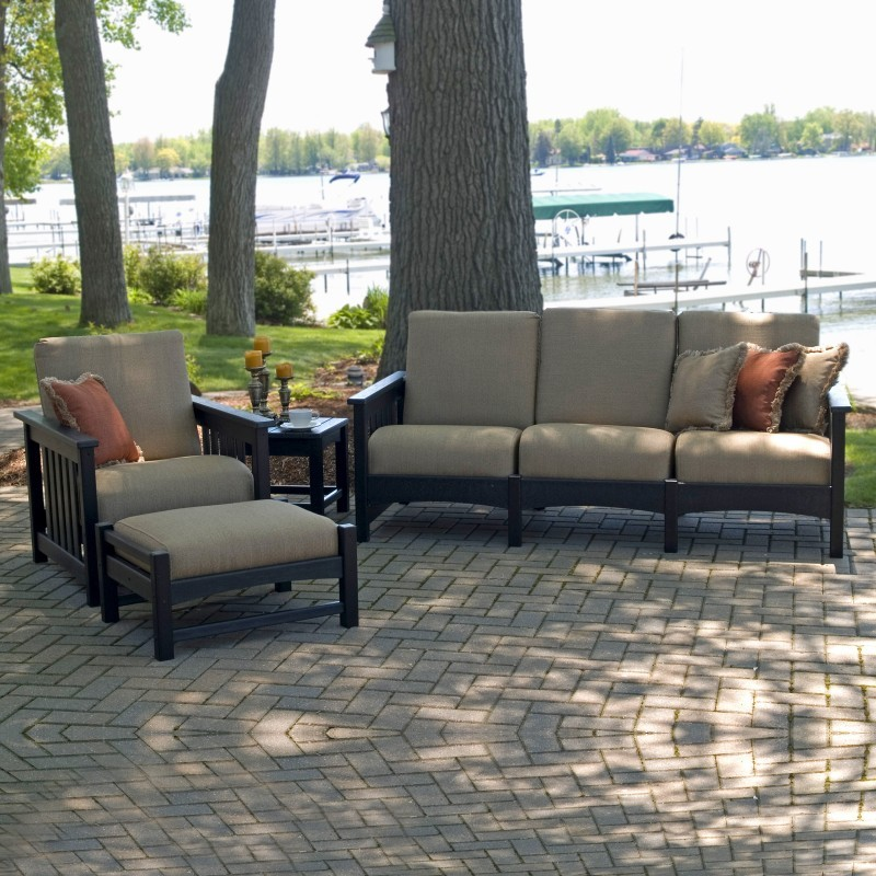 Outdoor Furniture: Outdoor Deep Seating Sets: Plastic Club Mission Patio Deep Seating Set 4 Piece