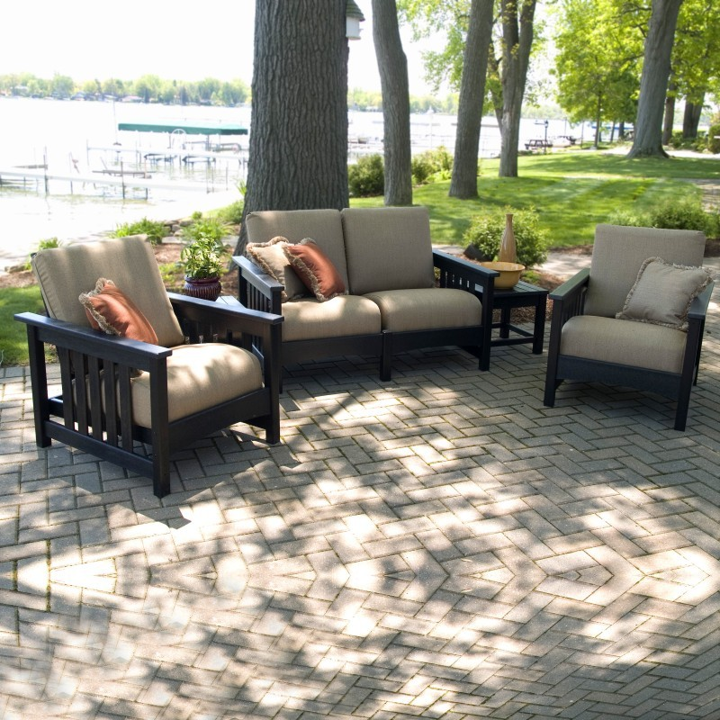 Plastic Club Mission Patio Deep Seating Set 5 Piece : Patio Sets