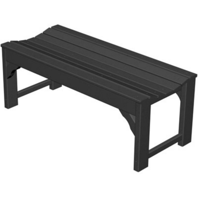 Plastic Traditional Garden Bench 48 inches : White Patio Furniture