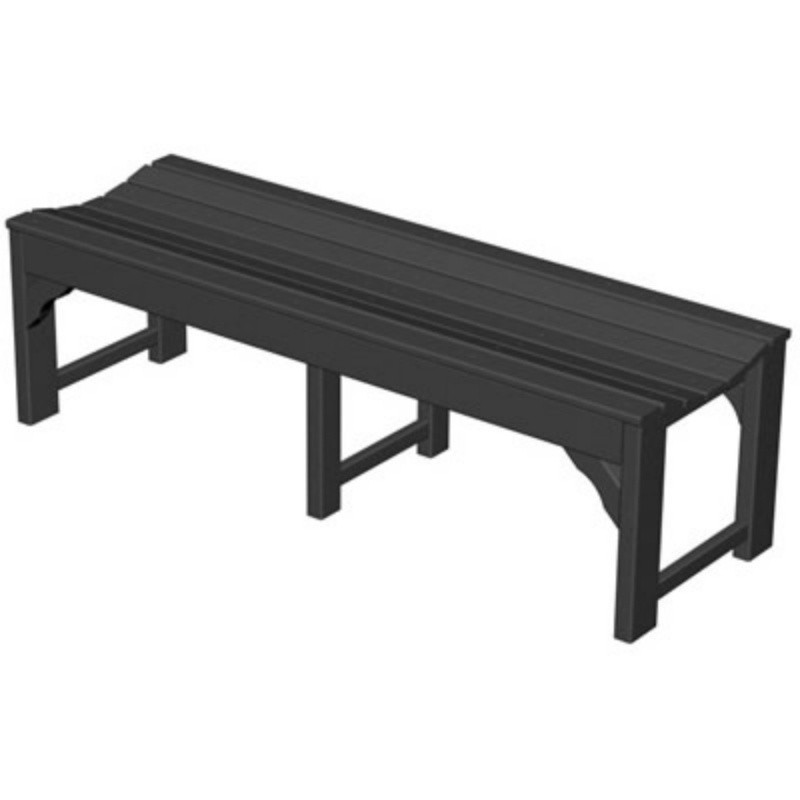 Plastic Traditional Garden Bench 60 inches : White Patio Furniture