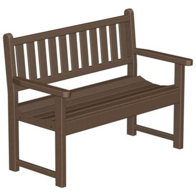 Recycled Plastic Traditional Park Bench w/arms 48 inches alternative photo