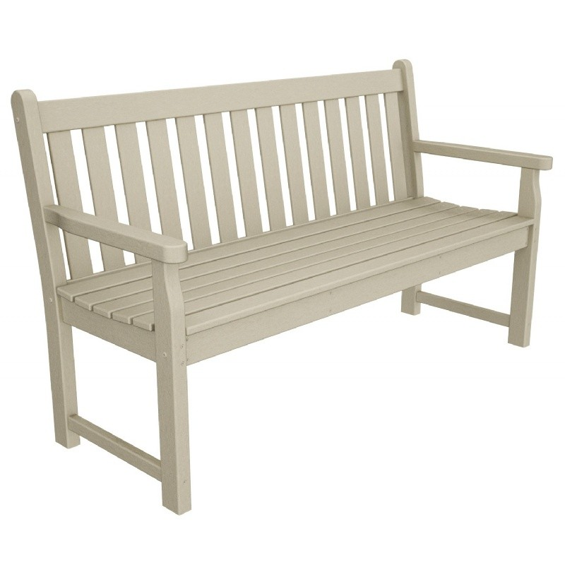 Plastic Traditional Garden Bench w/arms 60 inches