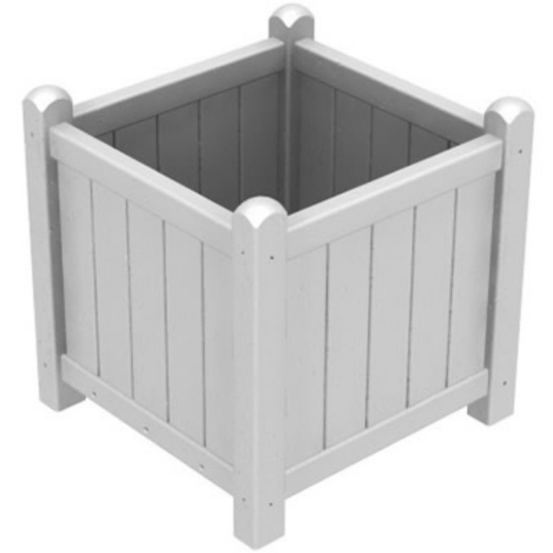 Plastic Traditional Garden Planter : White Patio Furniture