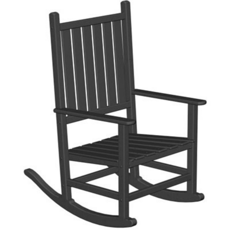 Outdoor Vinyl Rocking Chairs: Polywood Traditional Outdoor Rocking Chair