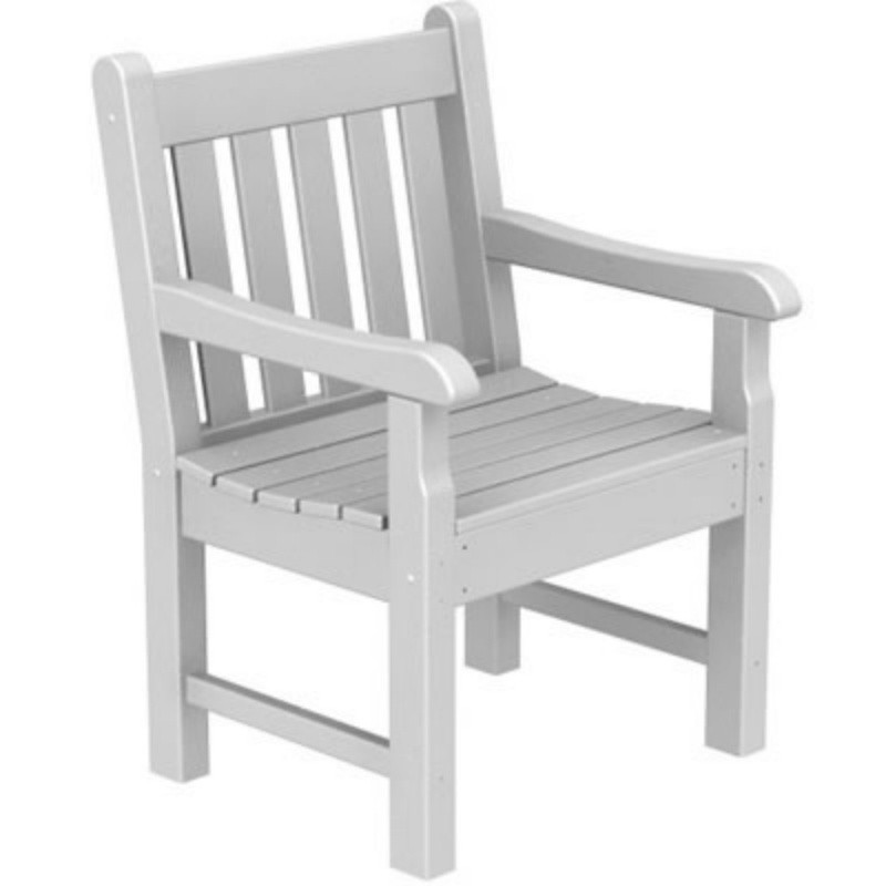 Plastic Wood Rockford Outdoor Dining Armchair : White Patio Furniture
