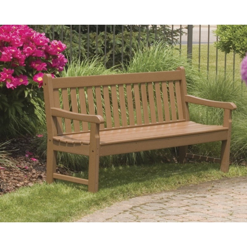 Plastic Wood Rockford Outdoor Park Bench 72 inches alternative photo #5