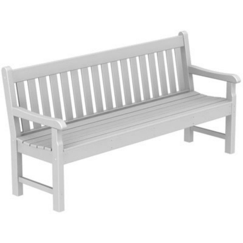 Plastic Wood Rockford Outdoor Park Bench 72 inches : White Patio Furniture