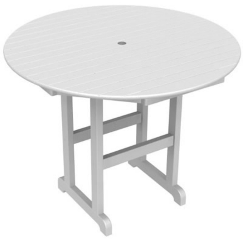 Plastic Wood Round Counter Height Table 48 inch