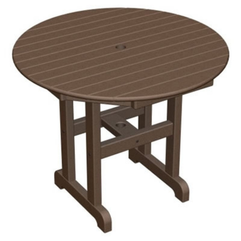 Plastic Wood Round Outdoor Dining Table 36 inch alternative photo #4